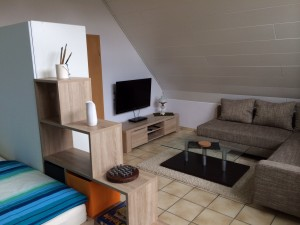 Appartement für bis zu 3 Personen mit SAT-TV und wLan ausgestattet